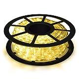 COSTWAY 10M LED Lichterschlauch Lichterkette Außen und Innen mit 360 LEDs Weihnachtsbeleuchtung Lichtschlauch Weihnachten Deko (Warmweiß)