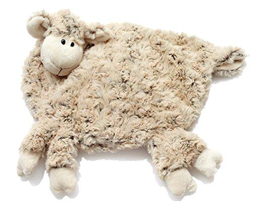 HanSen Plüsch Schaf Bezug für Wärmeflasche/braun / 38 x 34 cm/kuschelweich/Stofftier Kuscheltier Plüschtier/Lamm Lämmchen/für Babys und Kinder/natur