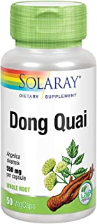 Solaray Dong Quai Root 550mg | Healthy Menstrual & Menopausal Support | Womens Health Supplement | Whole Root | Non-GMO, V...