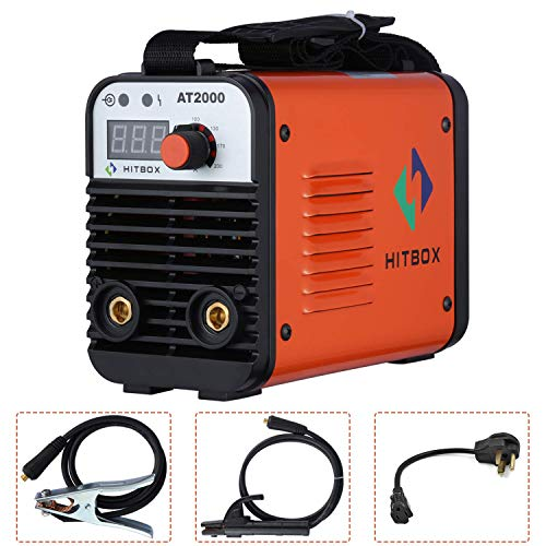 HITBOX 110V 220V ARC Welder MMA Stick 140A Rod Mini Portable Inverter Machine (Modelo: AT2000)