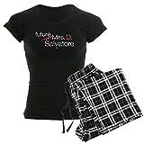 """CafePressDamen-Pyjama mit Aufschrift """"Future Mrs. D. Salvatore"""", bequemer Schlafanzug aus Baumwolle Gr. S, With Checker Pant"""