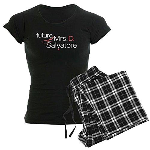 """CafePressDamen-Pyjama mit Aufschrift """"Future Mrs. D. Salvatore"""", bequemer Schlafanzug aus Baumwolle Gr. L, With Checker Pant"""