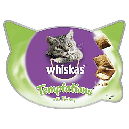 whiskas Temptations Leckerlis für Katzen, klein, knusprig