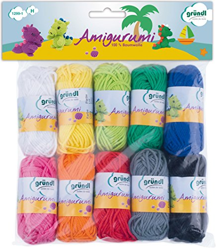 Gründl Amigurumi Kit I de Ganchillo, Algodón, Multicolor,