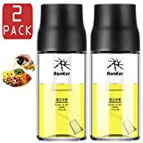 2 Pack Olive Oil Sprayer Dispenser Mister Bottle for Cooking,BBQ and Air Fryer,Premium Lead-Free...