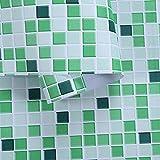 Papel Tapiz Casa Autoadherible, Autoadhesivo Baño Etiquetas de Pared Mesa de Cocina Table de Azulejos decorativos-A-15_60 cm × 3m