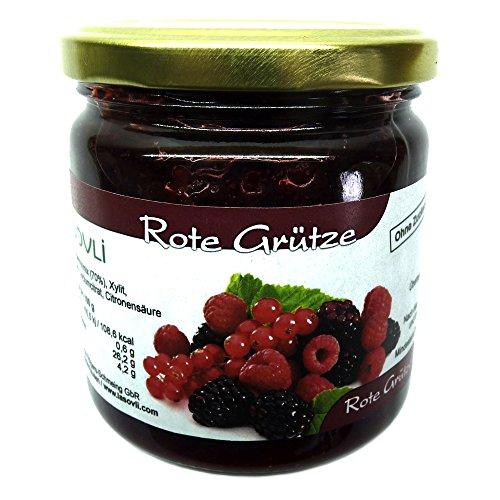 Rote Grütze mit Xylit gesüßt, 420 g, 70% Fruchtanteil