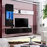 ASM Air H3 - Mueble de pared (160 cm de ancho), color negro