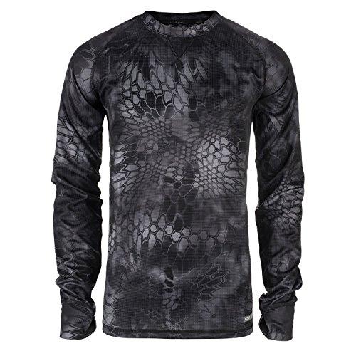 Koda Adventure gear Long sleeve shirt Camo base layer, Kryptek Typhon, Extra Large