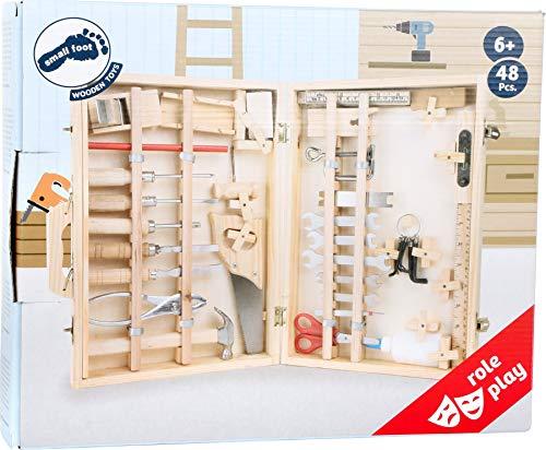 """Werkzeugkoffer """"Deluxe"""" aus Holz, mit 48 Teilen für kleine Heimwerker ab 8 Jahren, das passende Werkzeug für die notwendige Reparatur - 6"""
