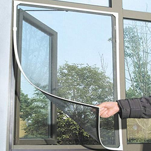 Linking Indoor Insekten Fliegengitter Moskito Netting Tür Fenster,Insektenschutz Fenster ohne Bohren Fliegenschutz-Gitter Mückenschutz für Fenster 150 x 200 cm (Schwarz)