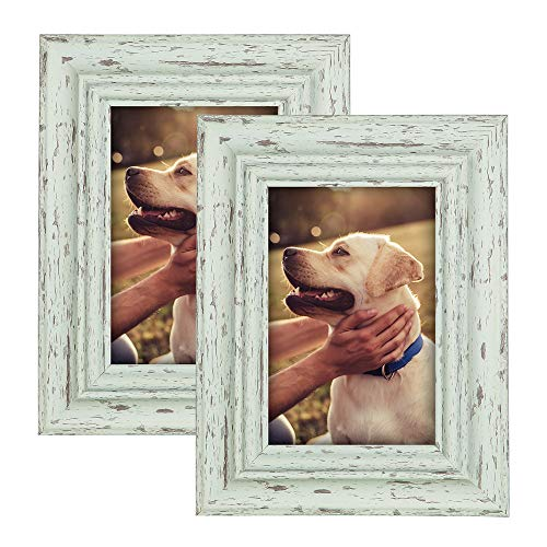 MUDEELA Fits 8x10 inches Picture Frame, Set of 2 Photo Frames, 2-Layer Thickened Design, Durable Wall Gallery Picture Frames, for Table Top Display and Wall Mounting