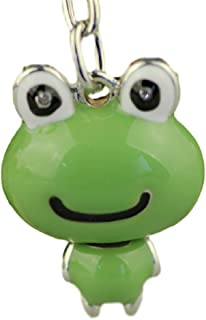 Frog keychain frog key ring personalized key ring initial keychain frog and toad frog gifts green day animal lover gift reptile party favors