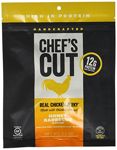 Chef's Cut Real Chicken Jerky Honey Barbeque,2.5OZ (Pack of 8)