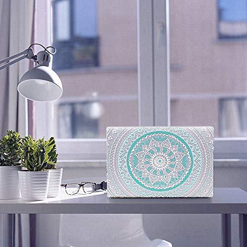 MacBook Air 13 Zoll Hülle, iCasso gummierte Hard Case Tastaturabdeckung Älteres MacBook Air 13 (Modelle: A1369/A1466), Teal Mandala