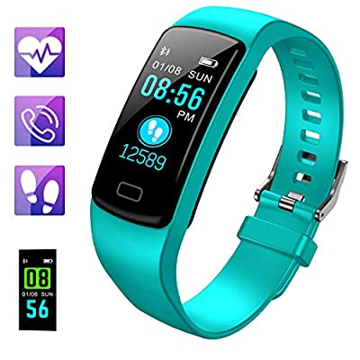 Fitness Tracker, Color Screen Activity Tracker Watch with Heart Rate Blood Pressure, IP67 Waterproof Smart Band with Sleep Monitor Calorie Counter Pedometer for Men, Women and Kids