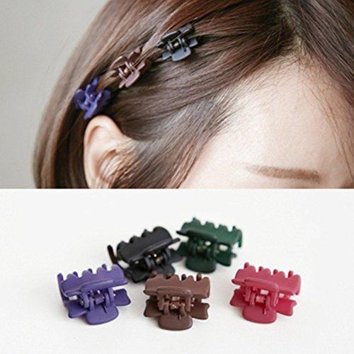 Cuhair (lot de 10) Plus récente Frange Mini pince à cheveux Épingle à cheveux pour jeunes filles aléatoire Assortiment de couleurs