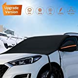 Hermard Windshield Snow Cover, Car Windshield Snow Cover with Rearview Mirror Covers & Hoo...