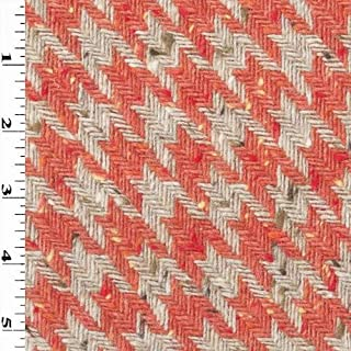 4 Yards Vintage Red Houndstooth Fabric 43 Wide Red and White Retro