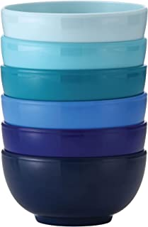 French Bull Melamine Mini Bowls for Snacks, Side Dishes, Dessert, Dipping Sauces or Ice Cream - Colorful Assorted Set of 6...