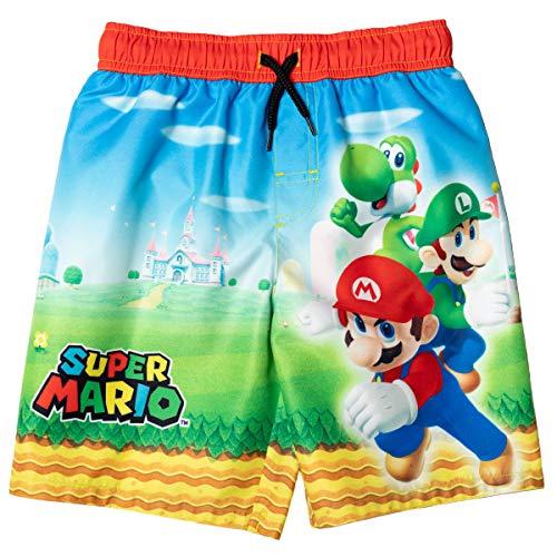 SUPER MARIO Mario Luigi Yoshi Little Boys Swim Trunks Multicolor 5-6
