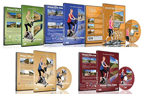 5 Disc Set Combo Pack - Best of France Virtual Walks and Cycling DVD Box Set for Treadmill, Elliptical Trainers and Spin Bikes Workouts