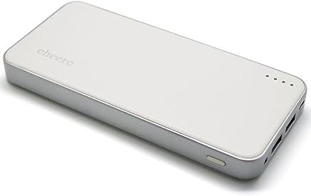 cheero Energy Plus 12000mAh 大容量モバイルバッテリー PSE取得済 Auto-IC機能搭載 ★2USBポート同時充電 ★iPhone/iPad/Galaxy/Xperia/Android/各種スマホ/Wi-Fiルータ/iQOS 等対応