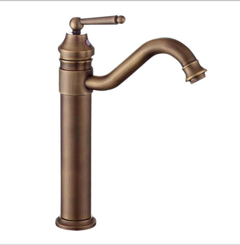 Bathroom Sink Basin Lever Mixer Tap Bronze Antique Countertop Basin Faucet Continental redating Art Basin Retro Basin Faucet