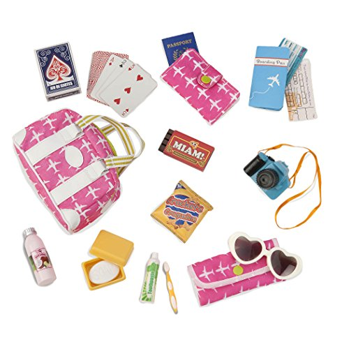 Our Generation- Bon Voyage Travel Set-Vacation Travel Bag with Accessories for 18' Dolls - Bon Voyage by Age 3 Years & Up