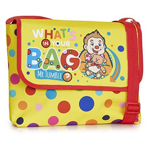 Mr Tumble tas | kleine kinderen Mr Tumble schoudertas voor kleuterschool, kleuterschool, vrije tijd of reizen | schoudertas voor kleine kinderen | cadeau voor kinderen van 3 4 5 6 jaar oud +