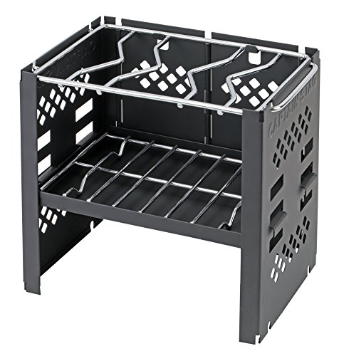Captain Stag [Amazon.co.jp Limited] Captain Stagg Barbecue Stove fire Table one 2 Roles Folding Stove 3 Stage with smart Grill B6 Type Bag Adjustable Black UG-44