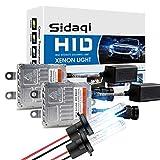 Sidaqi H7 80W HID Xénon Conversion Kit Blanc 6000K Remplacement Ampoule De Phare De Voiture