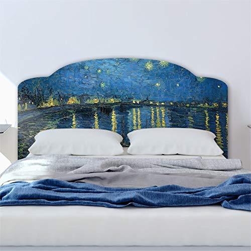 CREARREDA Testiera letto matrimoniale in PVC adesiva 100% Made in Italy Van Gogh Rodano 168x78 Schianale letto adesivo resistente, antigraffico, anallergico e isolante