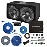 PRORECK PR-122M 1500W Dual 12' Car Subwoofer Enclosure Audio with Subwoofer,Mono Block Amplifier and Wiring Installation Kit