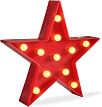 DELICORE Marquee Light Star Shaped LED Plastic Sign-Lighted Marquee Star Sign Wall Décor..