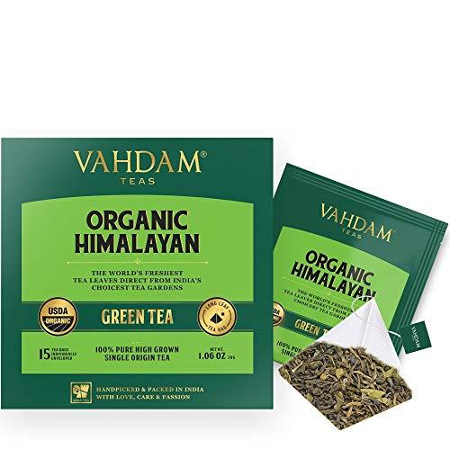 Groene theeblaadjes uit de Himalaya (100 theezakjes), 100% natuurlijk gewichtsverlies, detox-thee, slankstee, anti-oxidanten rijk - groene thee losse blad