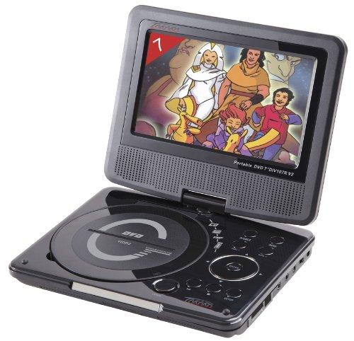 Takara DIV 107 R Lettore DVD portatile 7', porta USB, colore: Nero