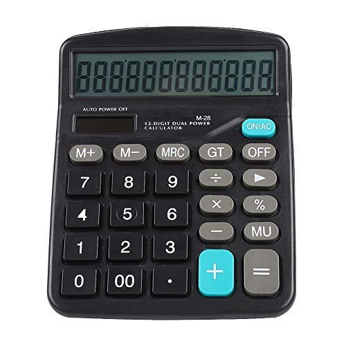 Taschenrechner, Taschenrechner Großes Display, Wissenschaftlicher Taschenrechner, Dual Power Supplies Solar Wissenschaftlicher Taschenrechner 12-Bit-Daten Großbildschirm und Tasten Solarrechner