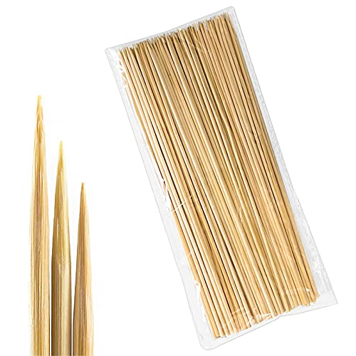 LOMYLM Pinchos de madera para barbacoa, pinchos para panes, brochetas para hoguera, pinchos para fogatas, barbacoas, 30 cm x 3 mm (200 unidades)