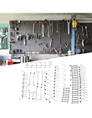 80Pc Home Garage Wandhaak Kit, Haak Opslag Pegboard Haak Set Gereedschap Apparatuur Organisatie Tool voor Opslag