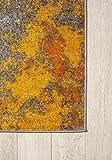 Carpeto Rugs Modern Läufer Flur Teppich Abstrakt Muster – Kurzflor Teppichläufer für Flur, Küche, Schlafzimmer, Esszimmer – Flurläufer in Versch. Größen und Farben – Gelb Gold 70 x 250 cm - 8