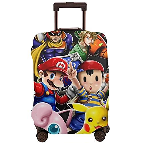 Super Smash Bros Kirby Mario Travel Maleta Protector Único Lavable Lindo e Interesante Reconocimiento Elástico