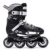 WENJUN Patines en línea para niños y adultos, patines para niñas, niños y adolescentes, zapatos de ruedas para mujeres y hombres (color: negro, tamaño: EU 39/US 7/UK 6/JP 24.5cm)