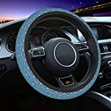 DOHOOC Wave Steering Wheel Cover Cute Car Accessories for Women Men Universal Fit 15 Inches Breathable Anti Slip Sweat Absorption