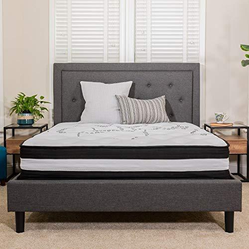 Flash Furniture Capri Comfortable Sleep 12 Inch CertiPUR-US Certified Foam and Pocket Spring Mattress, Twin Mattress in a Box