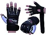 Guantes EVO de combate de cuerpo de cuero y gel - MMA guantes de boxeo, artes marciales - Grande