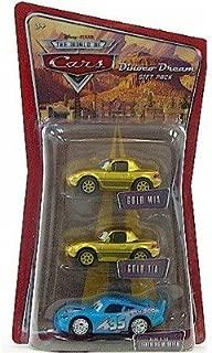 Mattel Disney Cars 3-pack Gold Mia, Tia, & Bling Bling McQueen