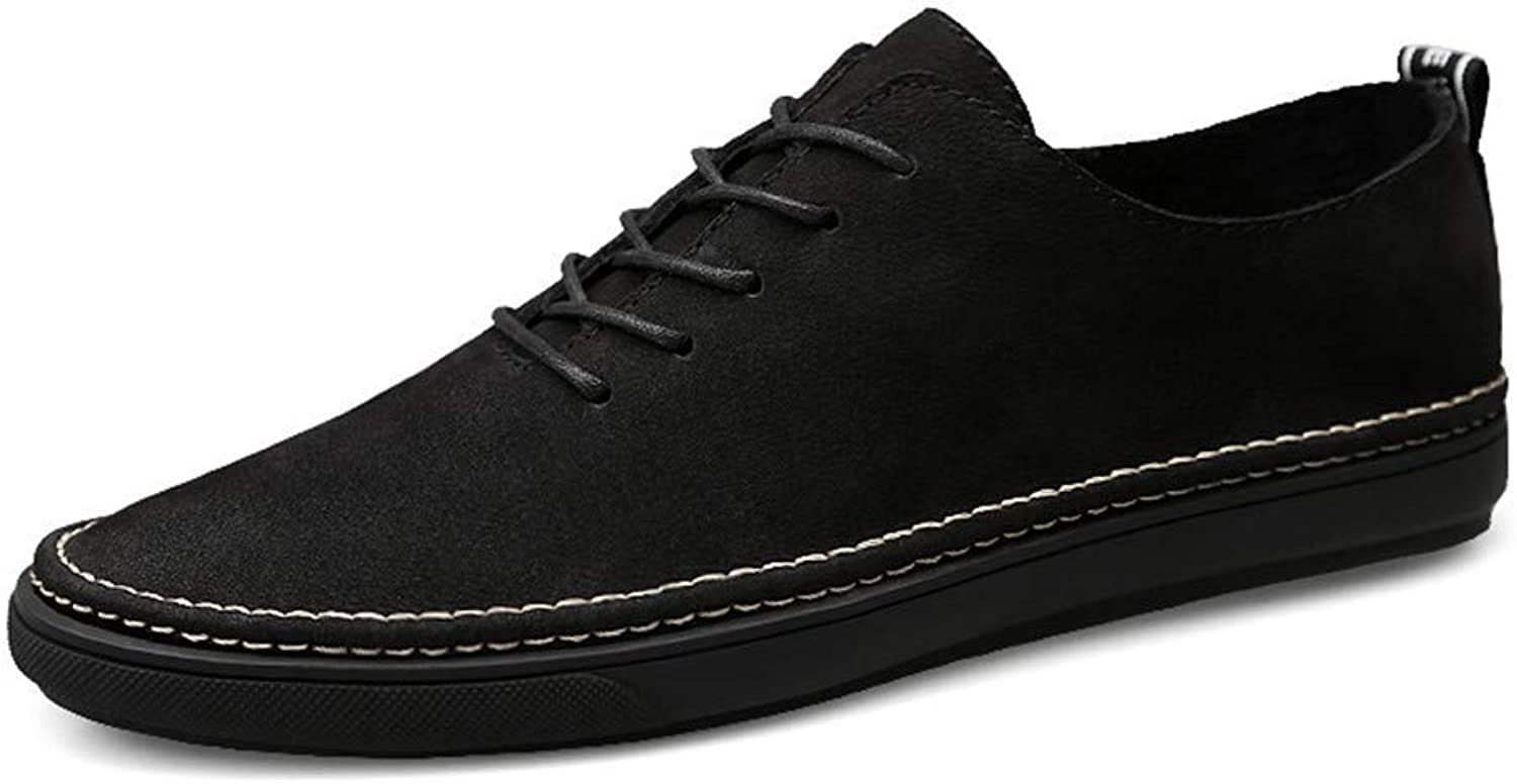 2018 Men's Oxfords Lightweight Soft Flat Heel Round Toe Lace Up Casual shoes (color  Black, Size  39 EU) (color   Black, Size   46 EU)