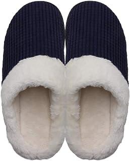 Zapatillas Unisex de Espuma viscoelástica, Forro de Felpa difusa, Zapatillas Suaves y cálidas para Interior y hogar