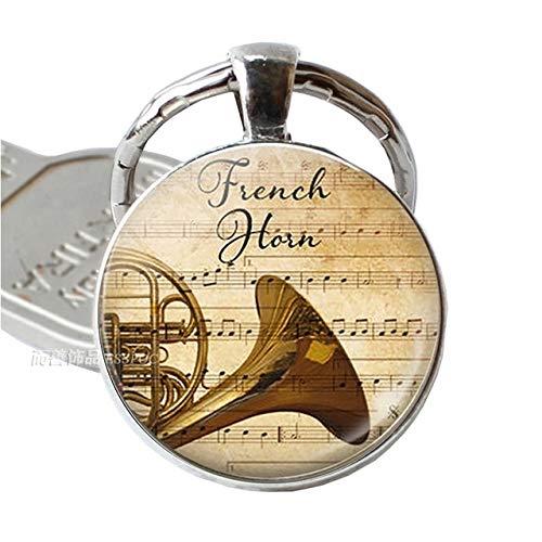 DSBN sleutelhanger muziekinstrument klarinet gitaar fluit viool muziek sleutelhanger muzieksleutel sleutelhanger muziek koepel glas sieraden als spectakel